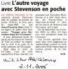 44_Voyage avec Stevenson dans les Cévennes-Midi Libre - 2 novembre 2006