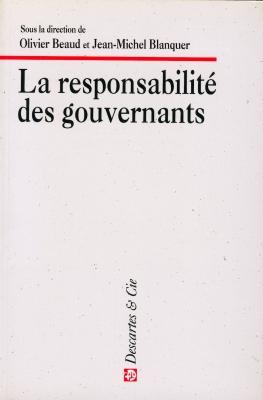 Responsabilité des gouvernants (La)
